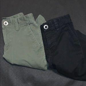 2 pairs of Volcom long shorts